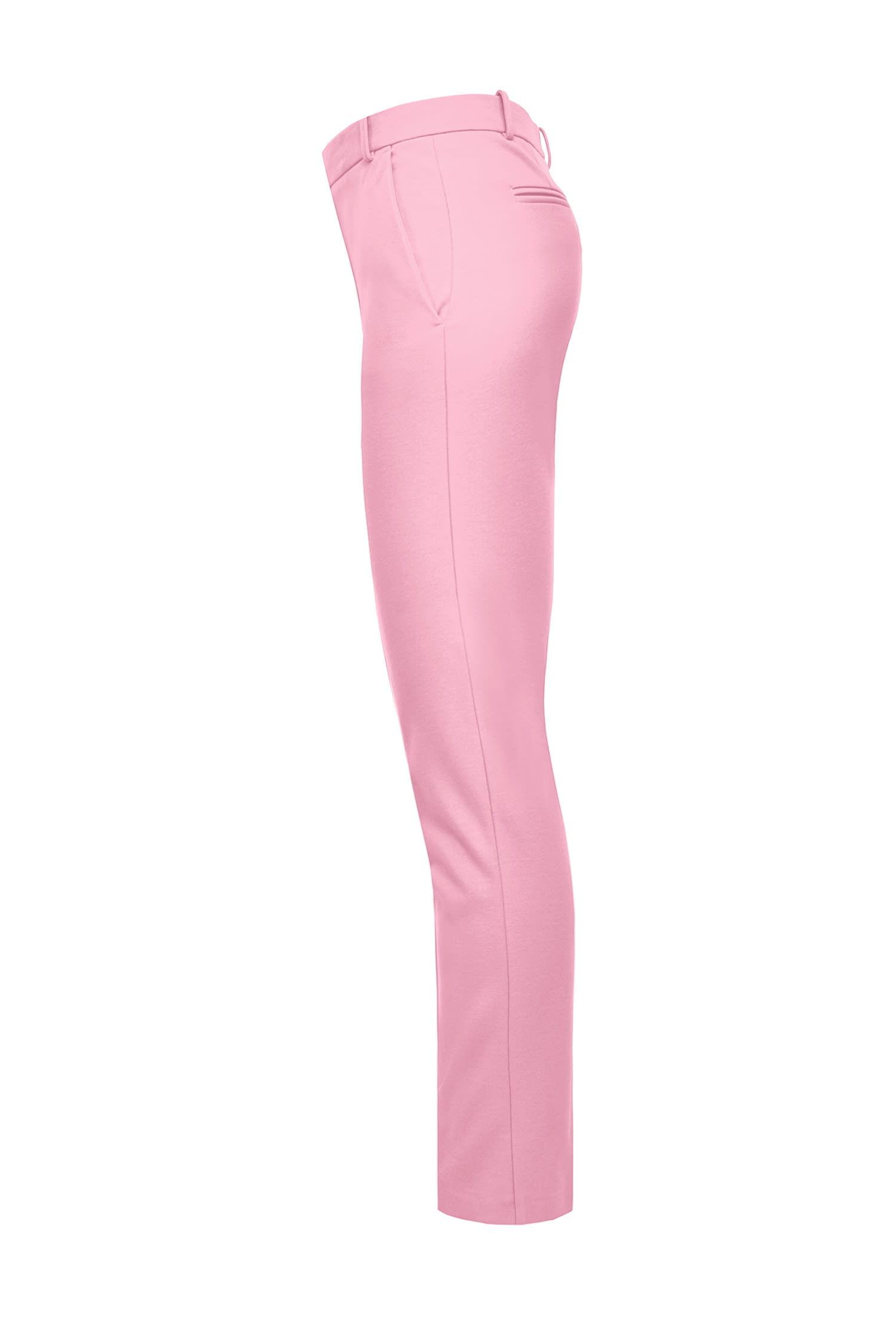 Scuba-effect Cigarette-fit Trouser Pink
