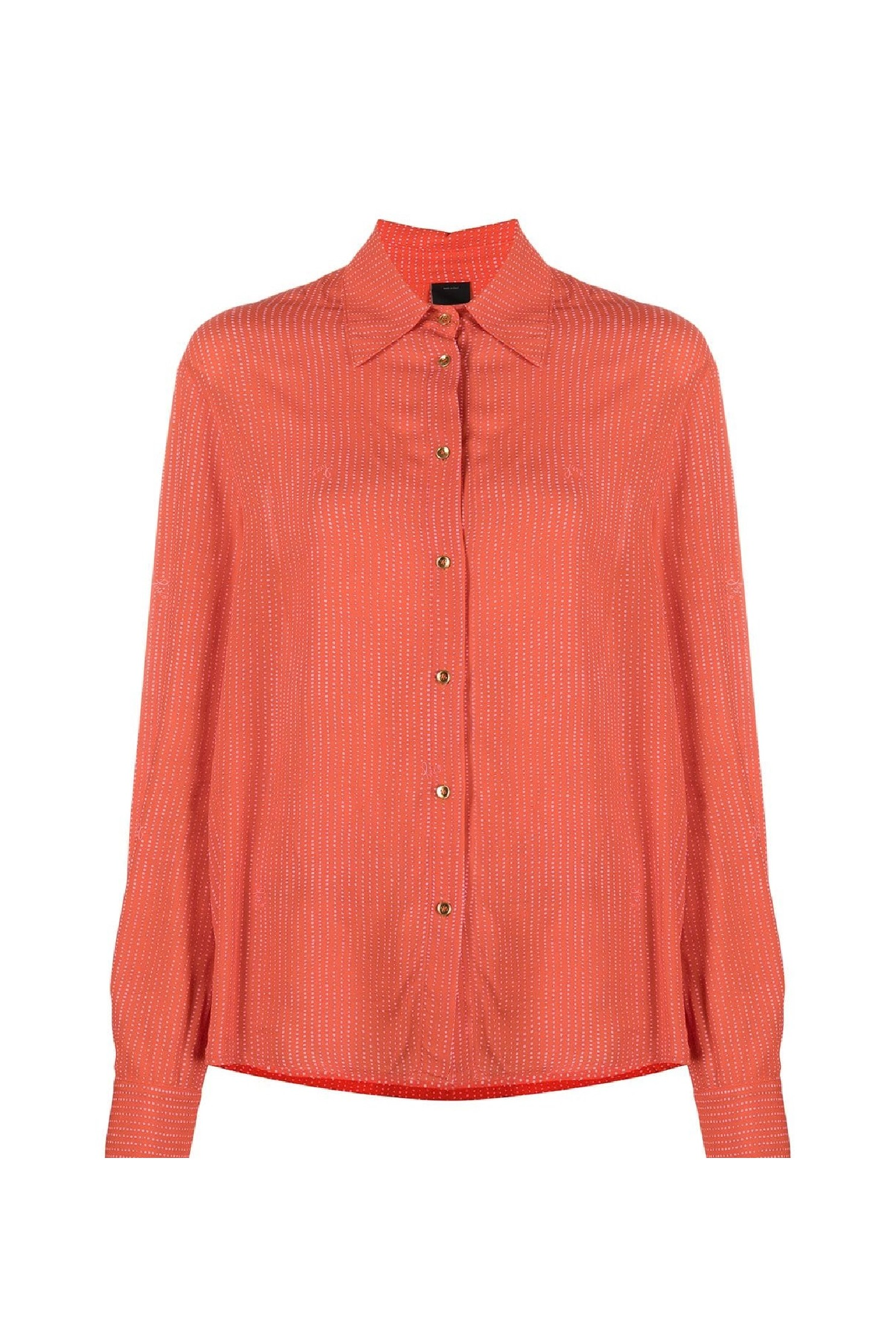 Long Sleeved Polka-dot Print Shirt