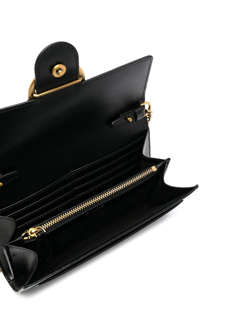 Love Buckled Crossbody Bag Black