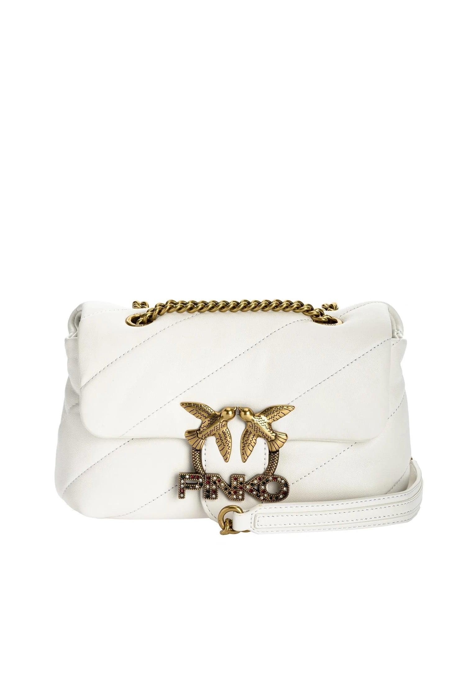 Mini Love Bag Puff Jewel White