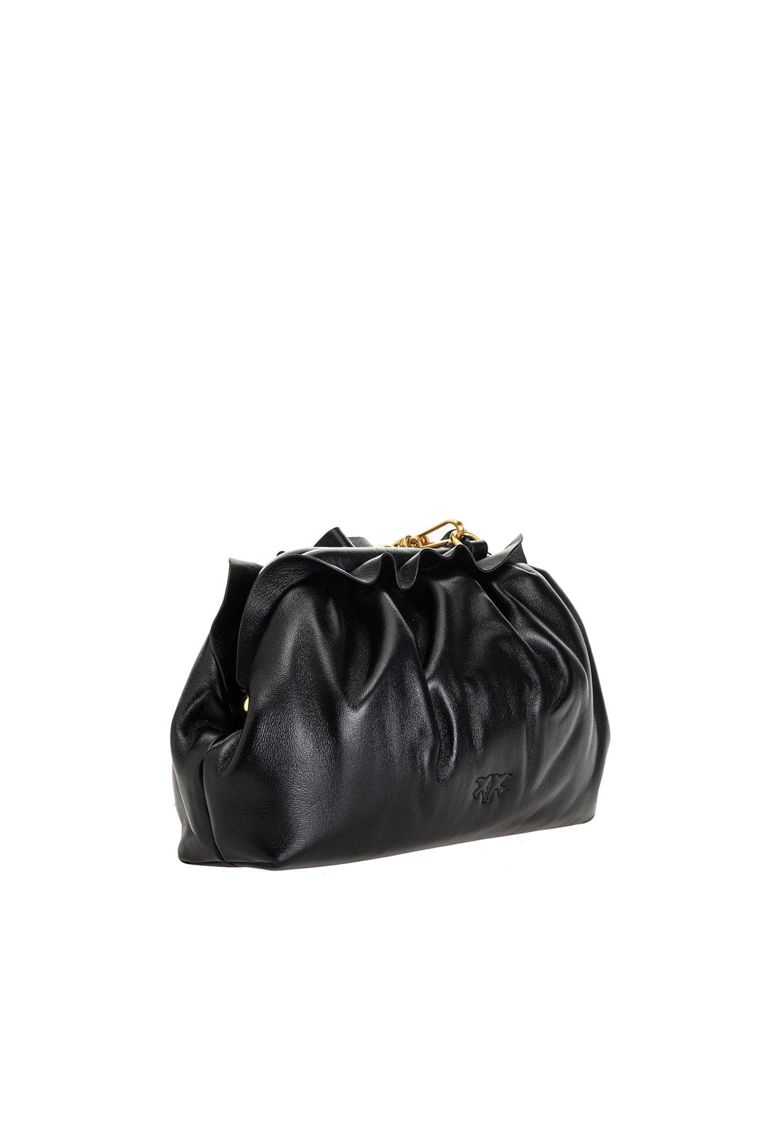 Mini Chain Clutch Bag Fraimed Black