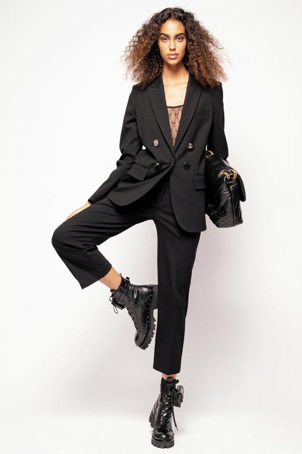 Blazer With Jewel Buttons Black
